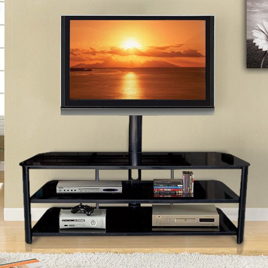 Innovex Stanford Black TV Cabinet with Integrated TV Mount