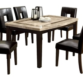 Furniture Of America Lisbon Natural Stone Marble Dining Table