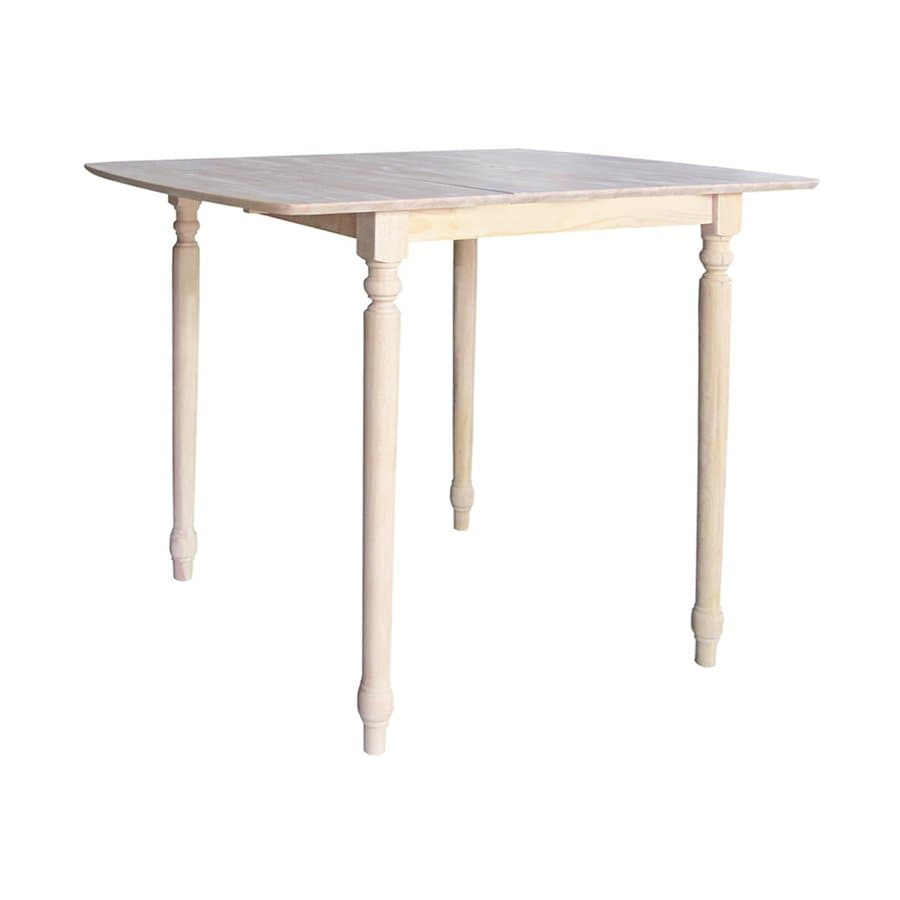 International Concepts Natural Wood Extending Bar Table