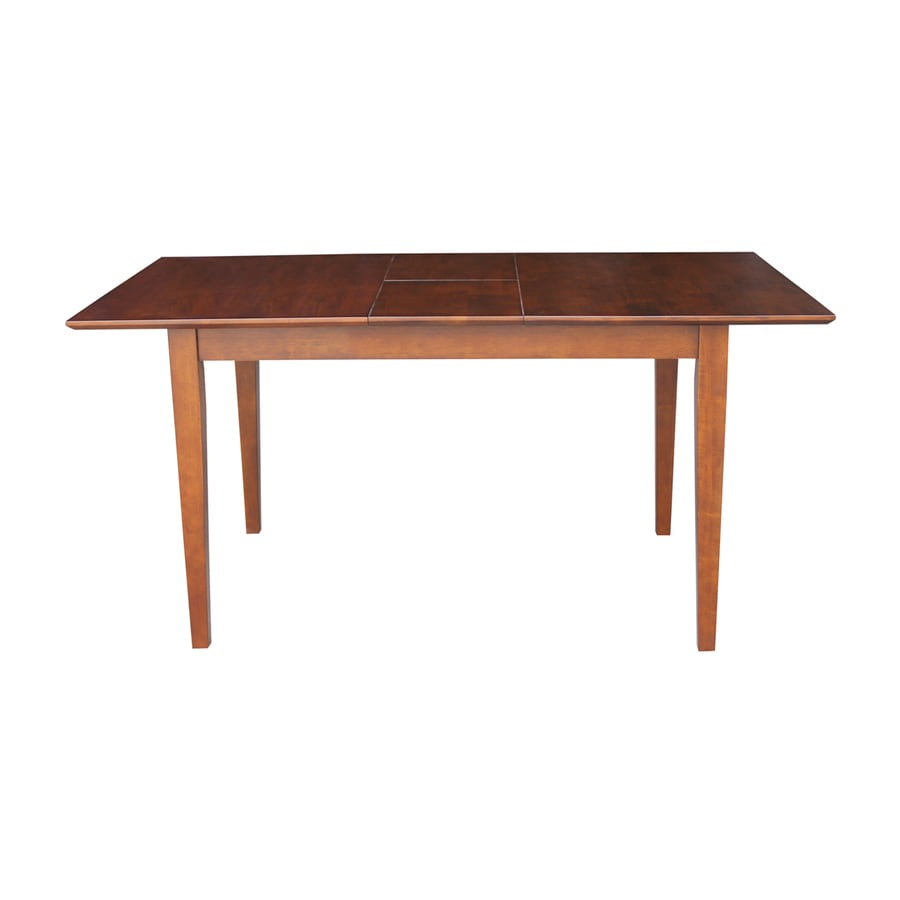 International Concepts Espresso Wood Extending Dining Table