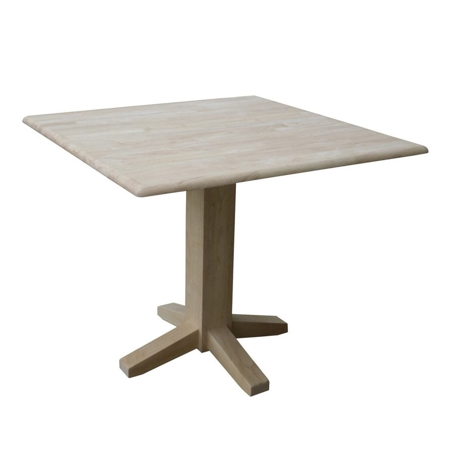 International Concepts Natural Wood Extending Dining Table
