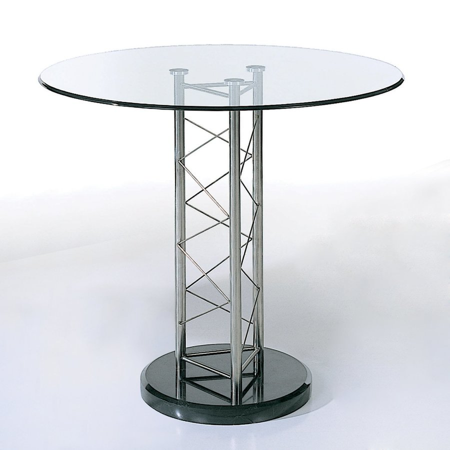 Beverly Hills Furniture Glass Round Dining Table