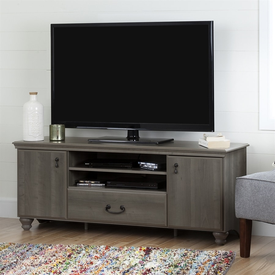 Shop south shore furniture noble grey maple tv cabinet at for Decor zone tv unit