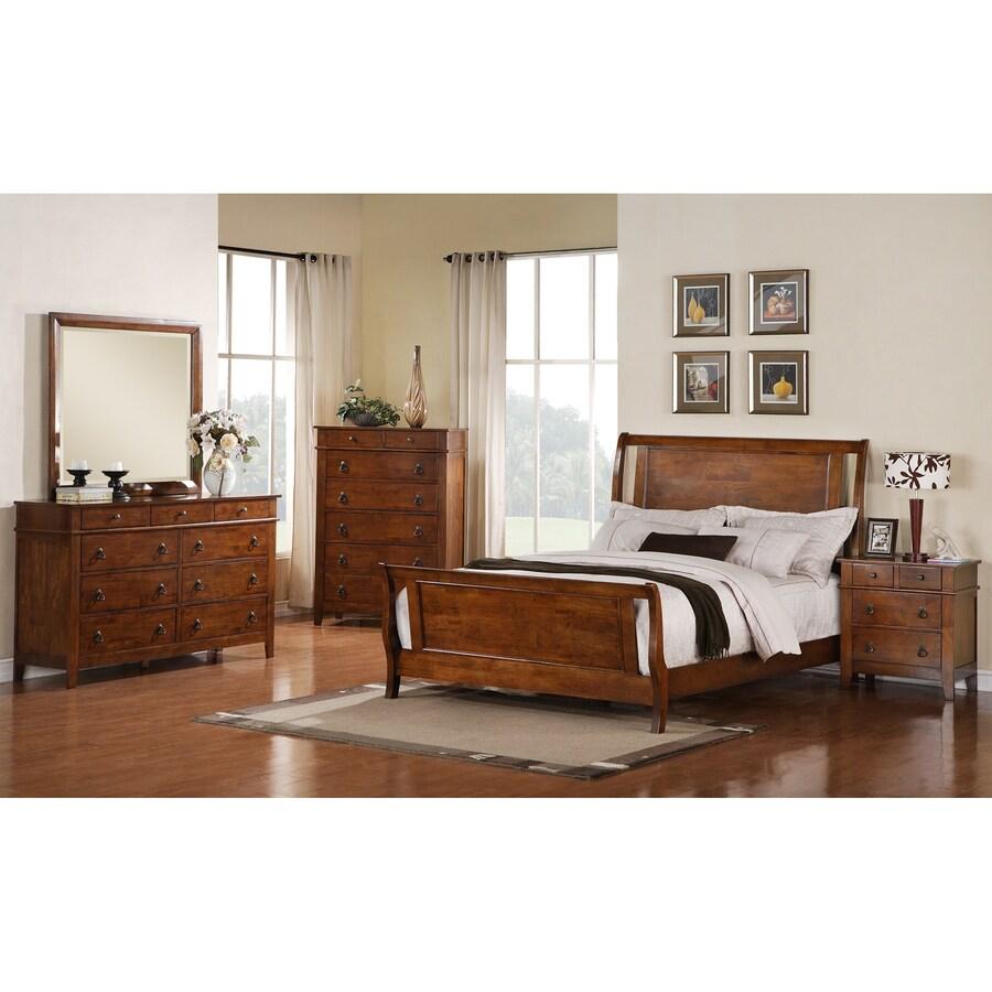 Sunset Trading Phoenix Medium Walnut King Bedroom Set