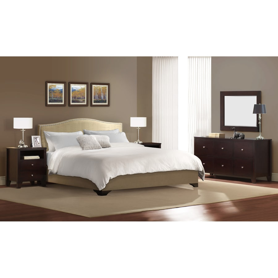 Lifestyle Solutions Magnolia Cappuccino King Bedroom Set