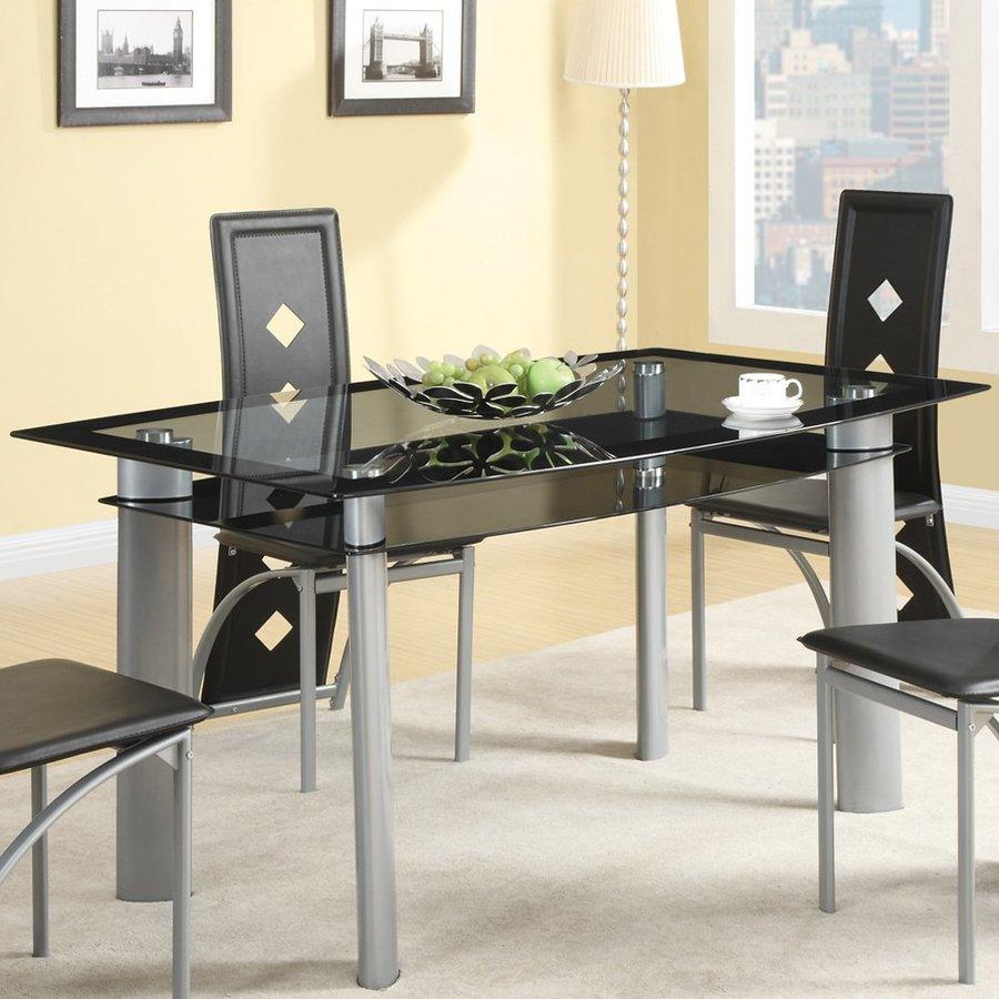 Coaster Fine Furniture Fontana Glass Dining Table