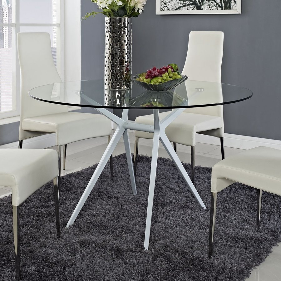 Modway Tilt Glass Round Dining Table