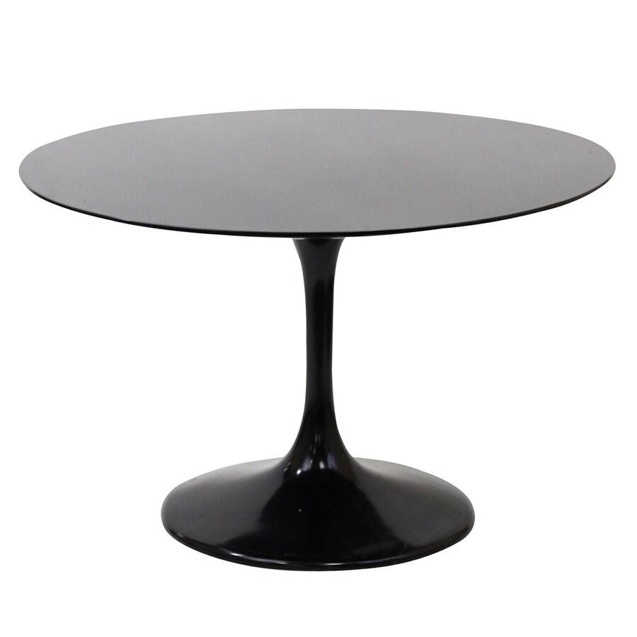 Modway Lippa Black Fiberglass Round Dining Table