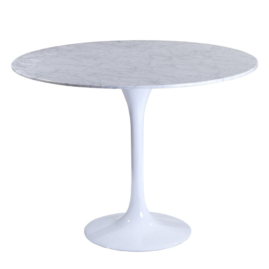 Modway Lippa White Faux Marble Round Dining Table