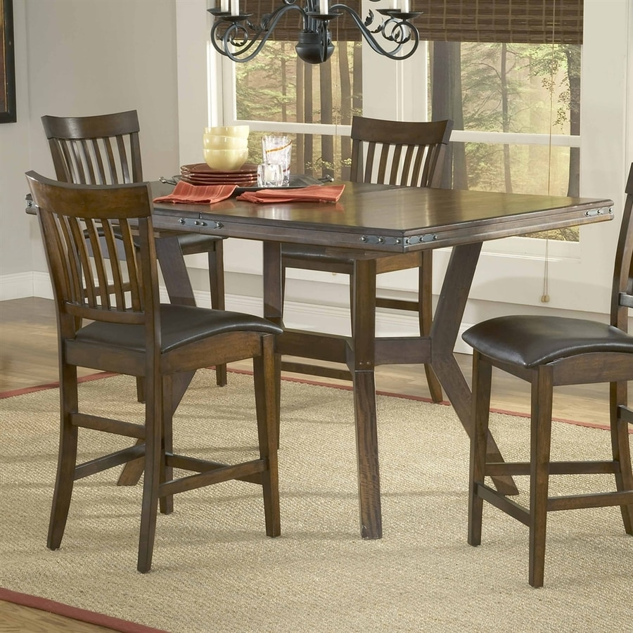Hillsdale Furniture Arbor Hill Colonial Chestnut Wood Extending Counter Table