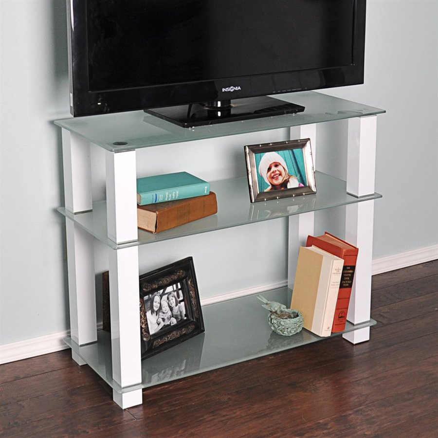 RTA Home & Office Gloss White TV Cabinet