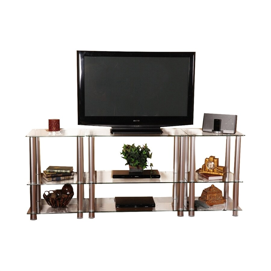 shop rta home office clear tv cabinet at