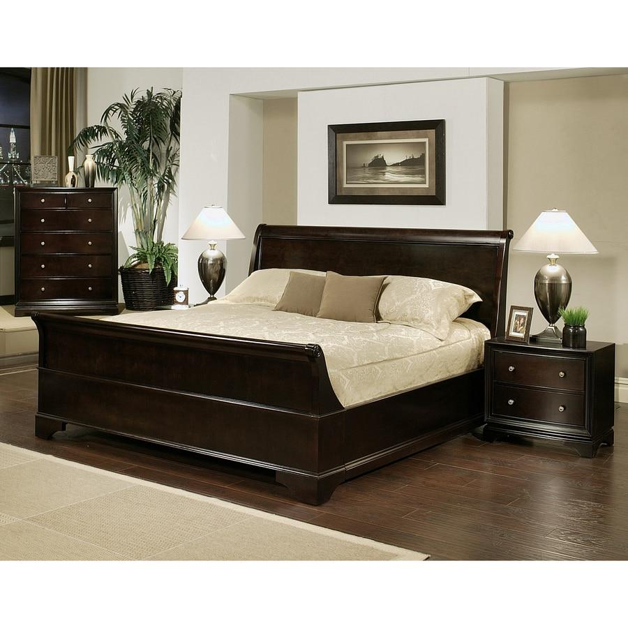Bedroom Sets Espresso shop pacific loft capriva espresso queen bedroom set at lowes