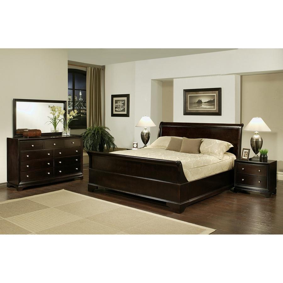 Pacific Loft Capriva Espresso Queen Bedroom Set