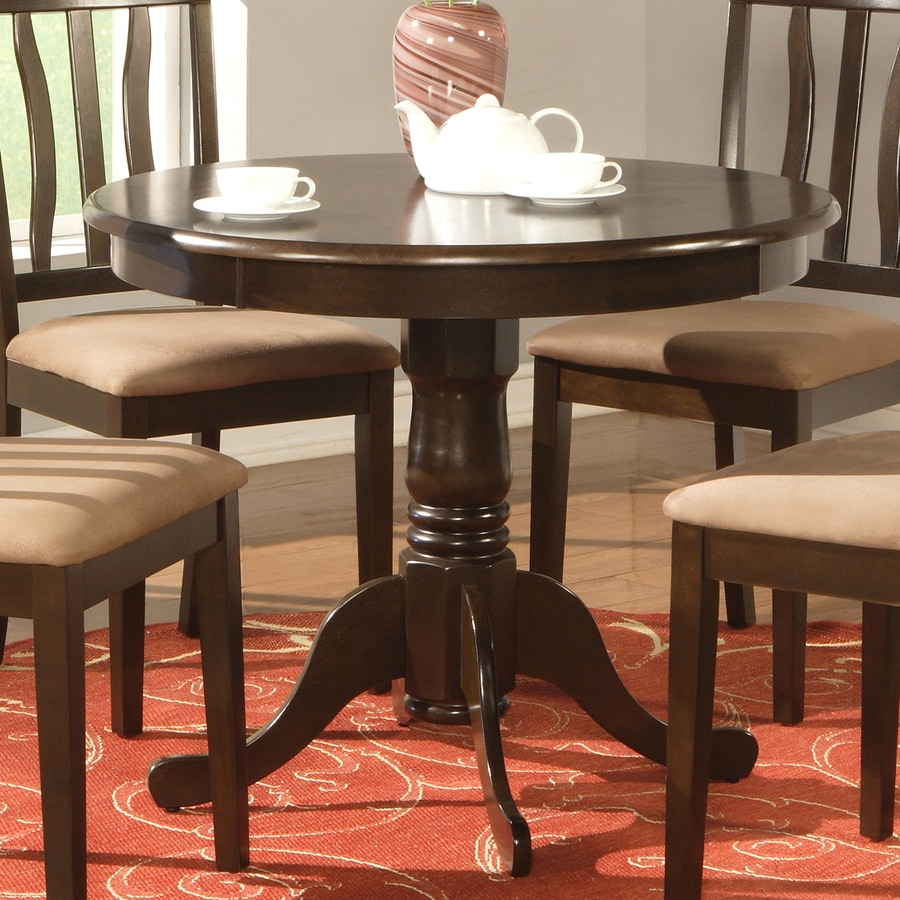 East West Furniture Cappuccino Wood Round Dining Table