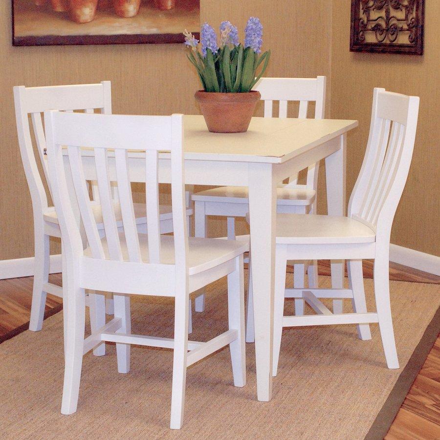 shop carolina cottage prairie antique ivory wood dining table at. Black Bedroom Furniture Sets. Home Design Ideas