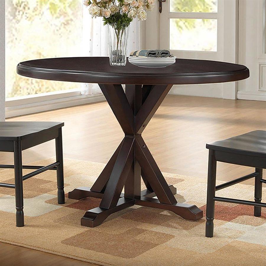 CAROLINA COTTAGE Monet Espresso Wood Round Dining Table