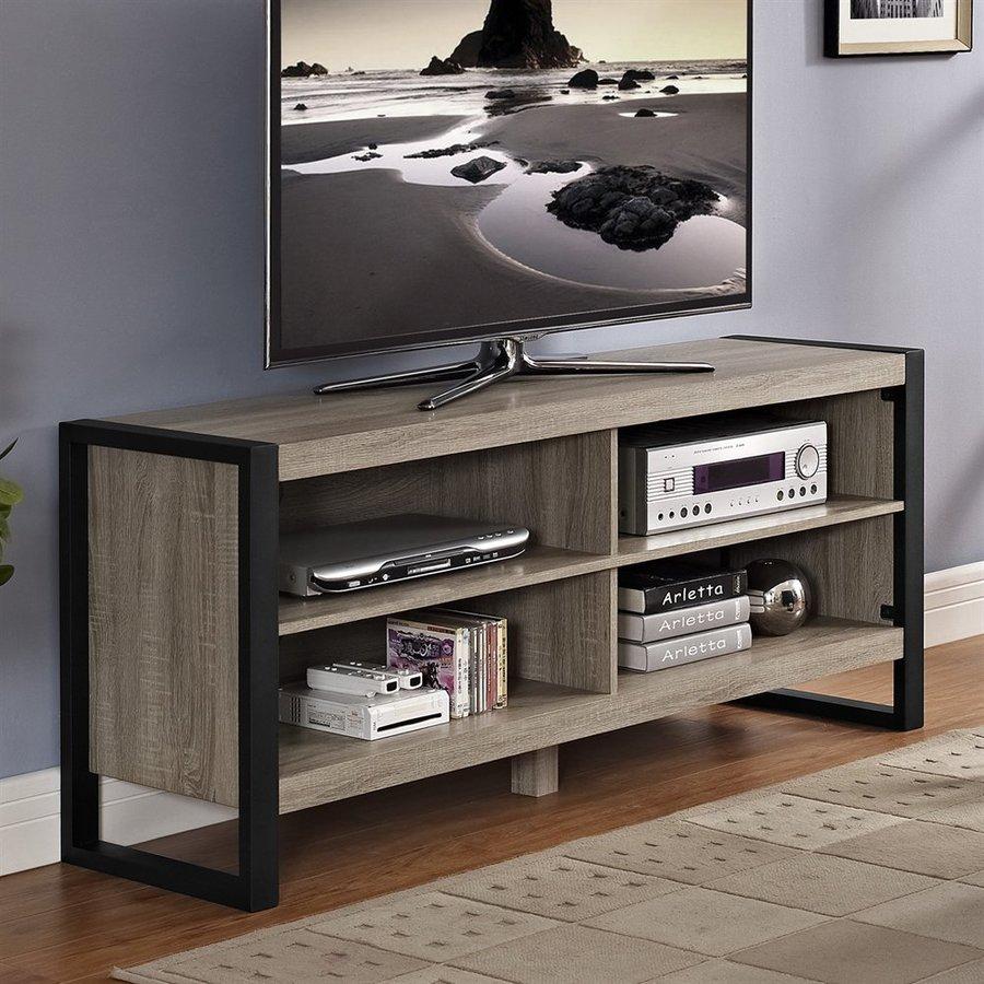 Ash Grey Cabinets Kitchen: Walker Edison Urban Blend Ash Grey Rectangular TV Cabinet