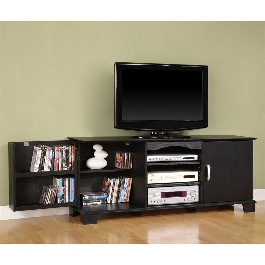 Walker Edison Jamestown Black Rectangular TV Cabinet