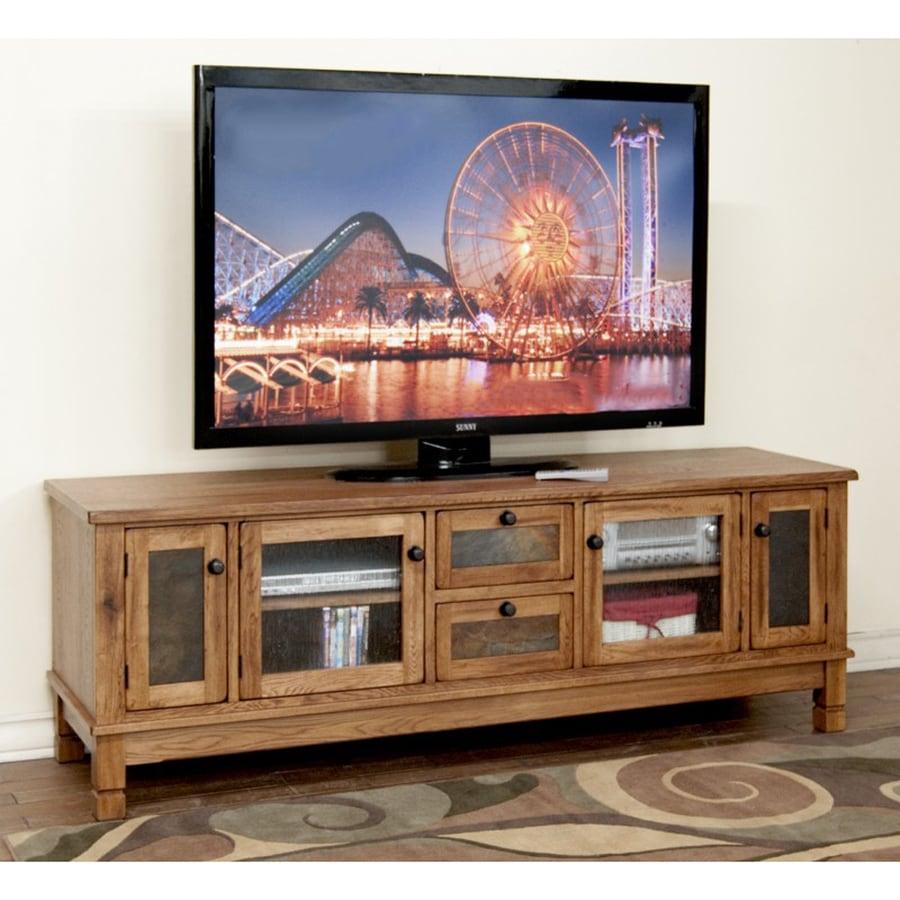 Sunny Designs Sedona Rustic Oak Rectangular TV Cabinet