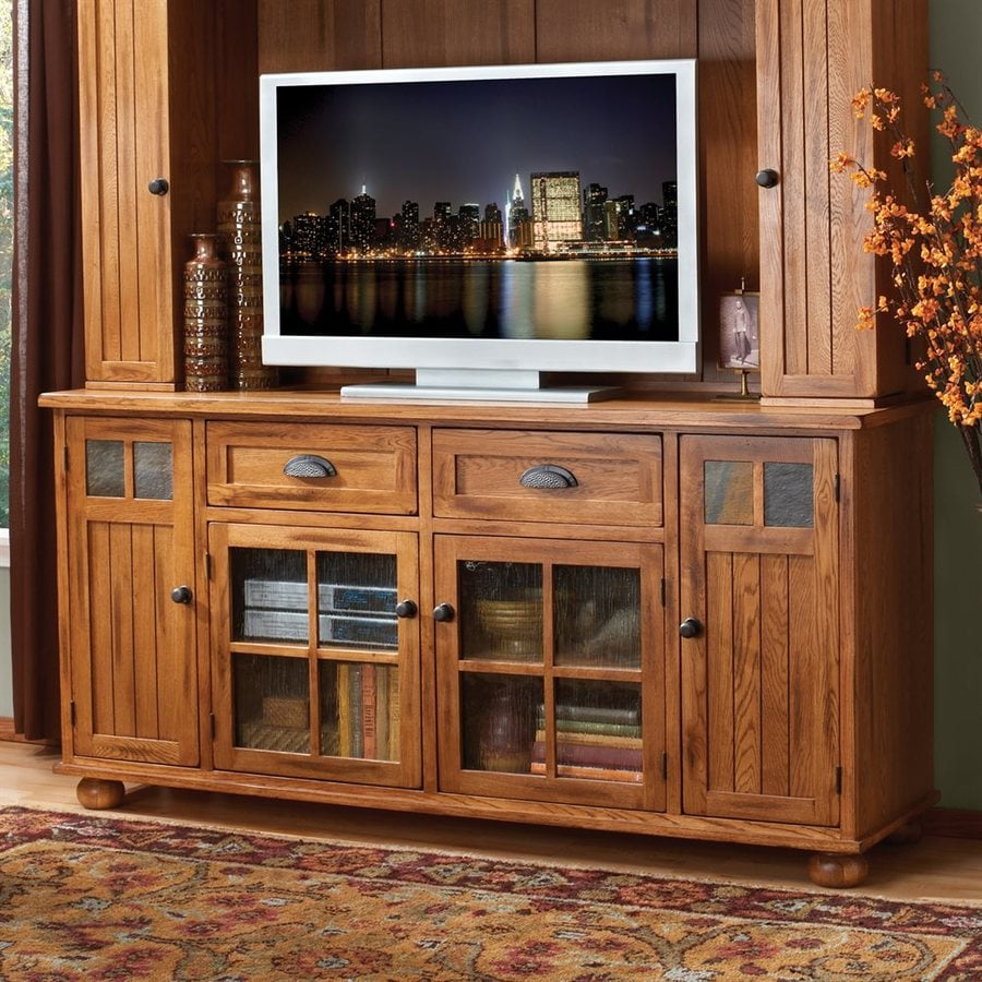 Shop Sunny Designs Sedona Rustic Oak Rectangular Tv