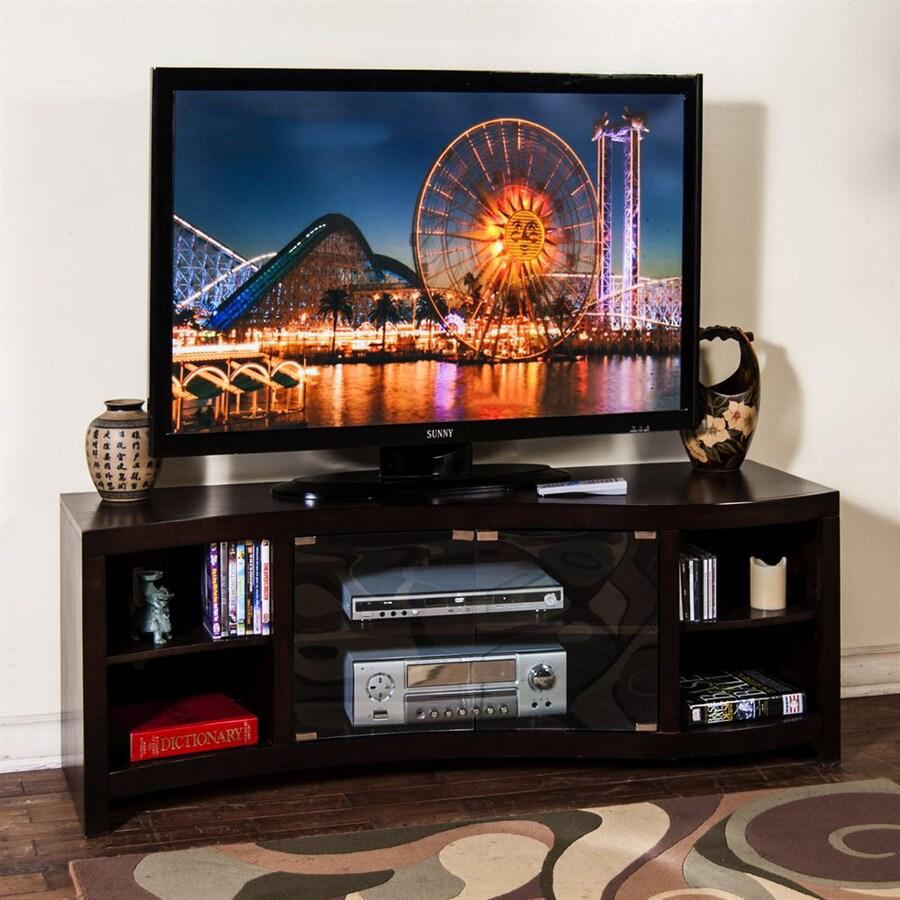 Sunny Designs Espresso Rectangular TV Cabinet