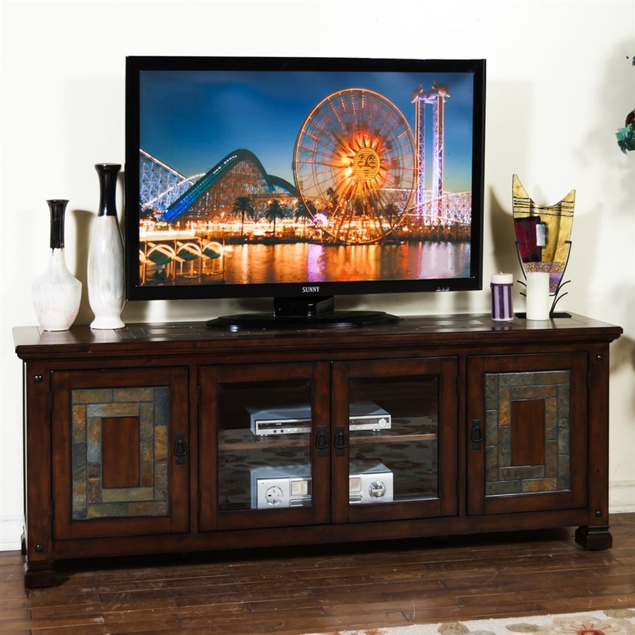 Sunny Designs Dark Hazelnut Rectangular TV Cabinet