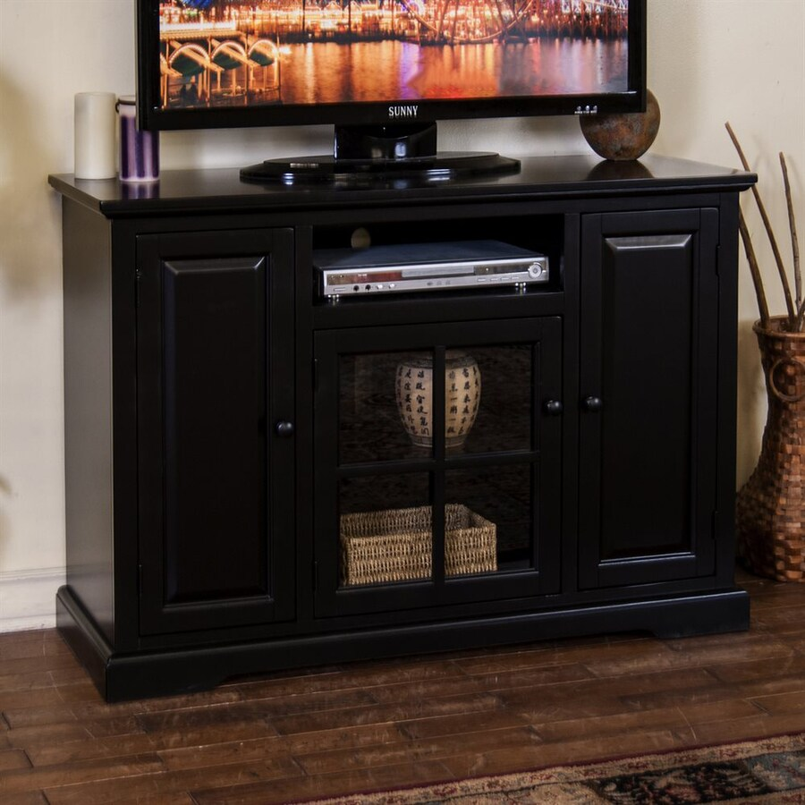 Sunny Designs Laguna Black Rectangular TV Cabinet