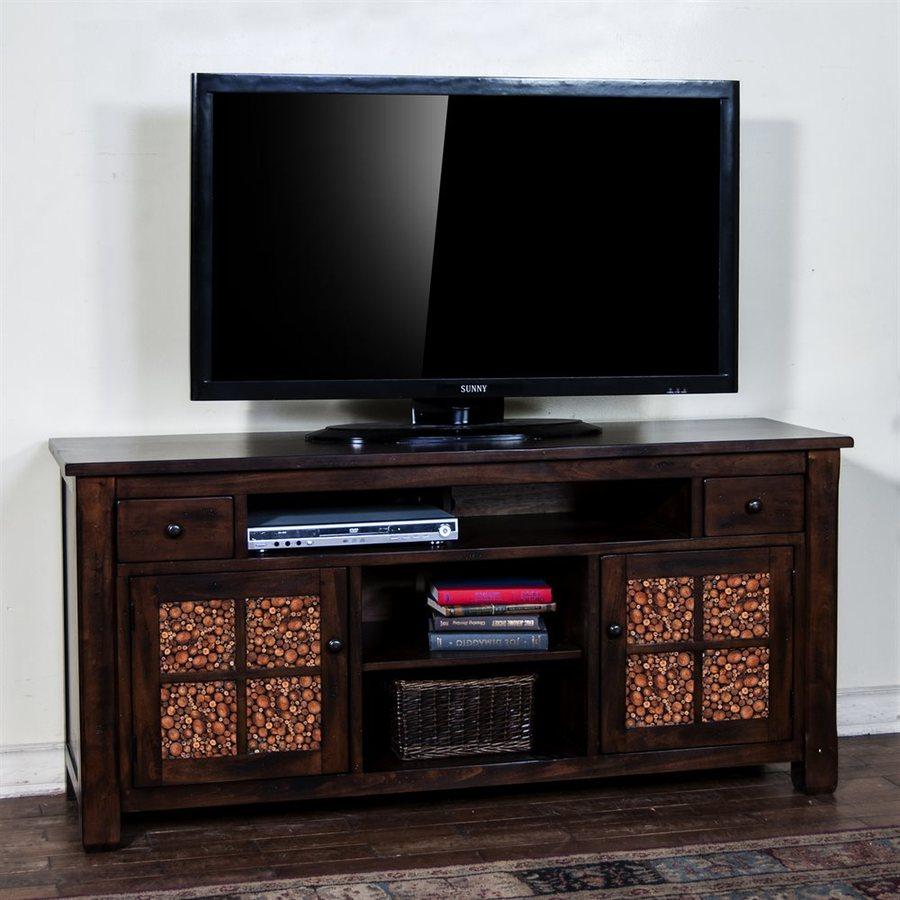 Sunny Designs Woodland Dark Tobacco Rectangular TV Cabinet