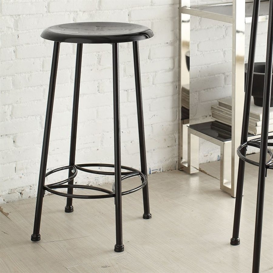 CAROLINA COTTAGE Whitman Black 24-in Counter Stool