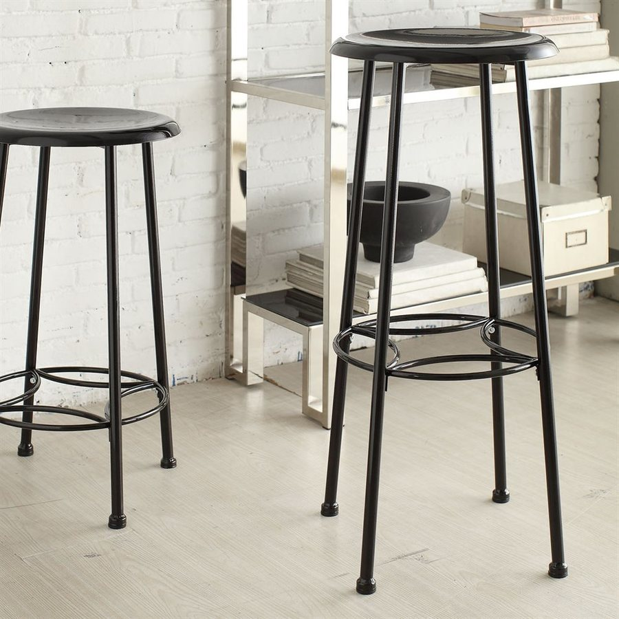 CAROLINA COTTAGE Whitman Industrial Black Bar Stool