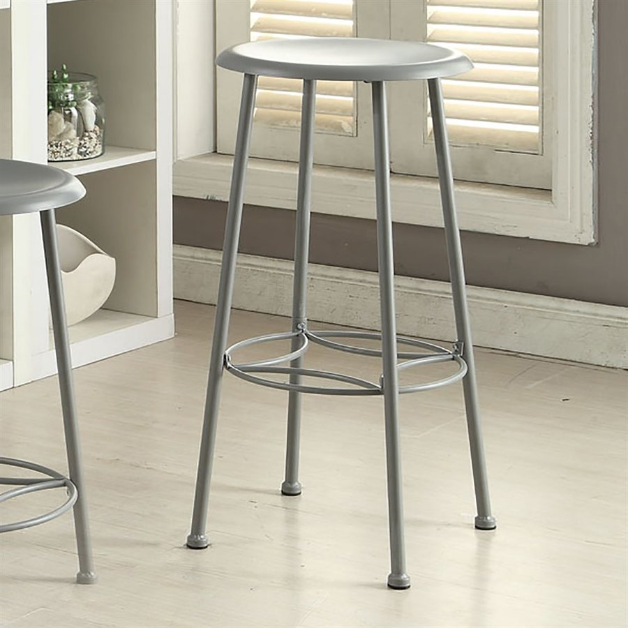 CAROLINA COTTAGE Whitman Gun Metal 30-in Bar Stool
