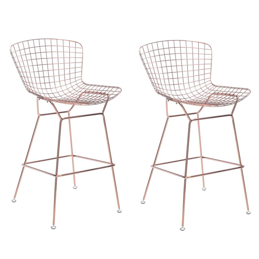 rose gold bar stools. Zuo Modern Set Of 2 Midcentury Rose Gold Bar Stools E
