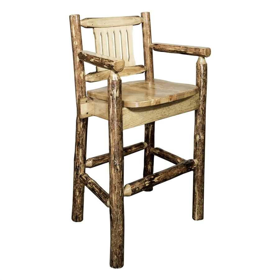 Montana Woodworks Glacier Country Rustic Natural Bar Stool