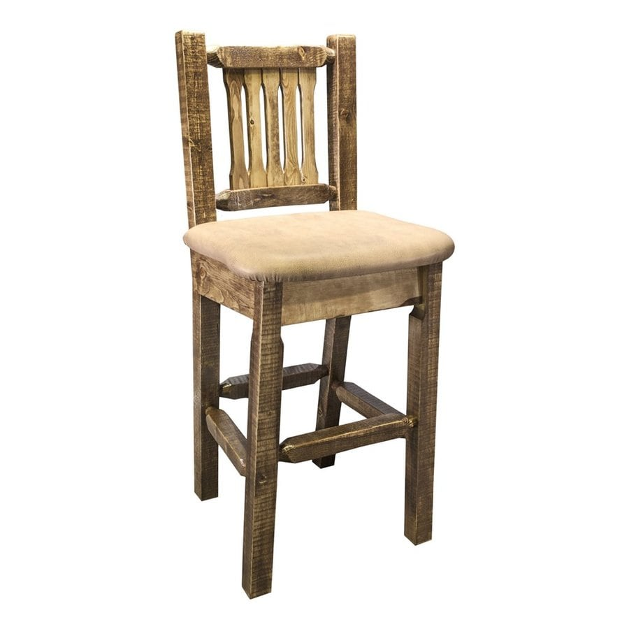 Montana Woodworks Homestead Rustic Stained/Lacquered Bar Stool