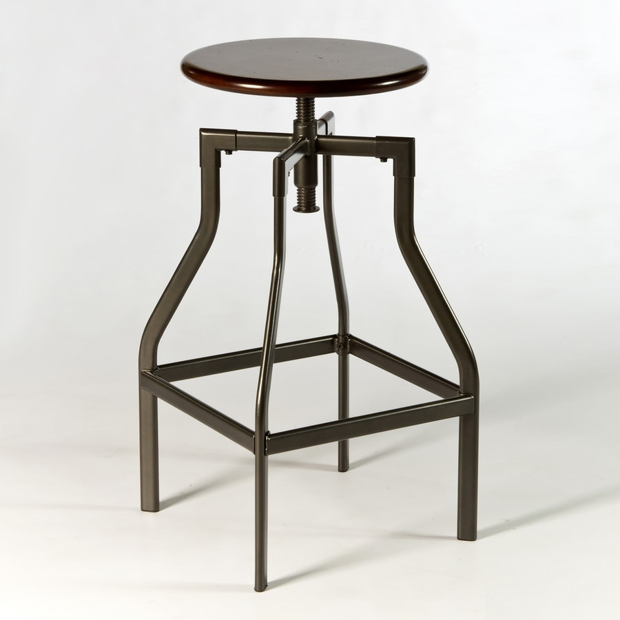 Hillsdale Furniture Cyprus Industrial Pewter Adjustable Stool