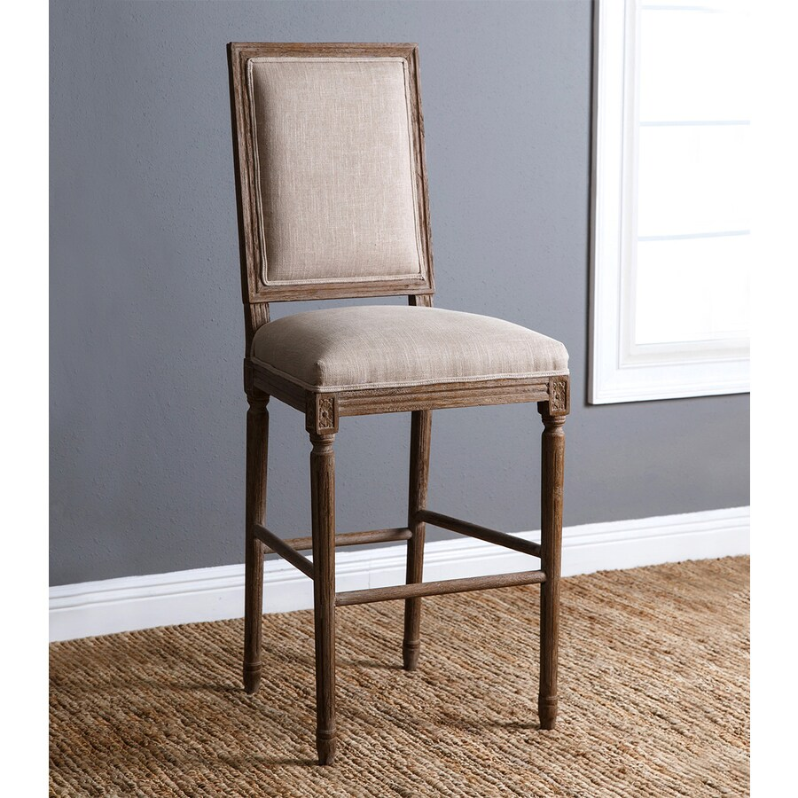 Pacific Loft Juliette Country/Cottage Weathered Oak Bar Stool