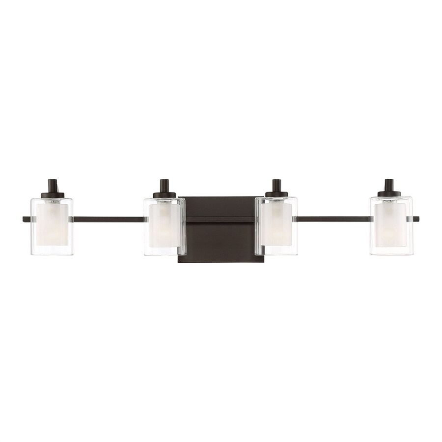 Quoizel Kolt 2-Light 6-in Western bronze Cylinder LED Vanity Light