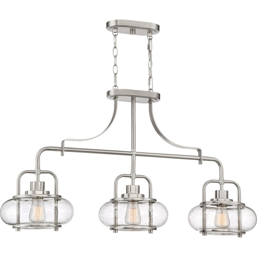 Quoizel Trilogy 10-in W 3-Light Brushed Nickel Kitchen