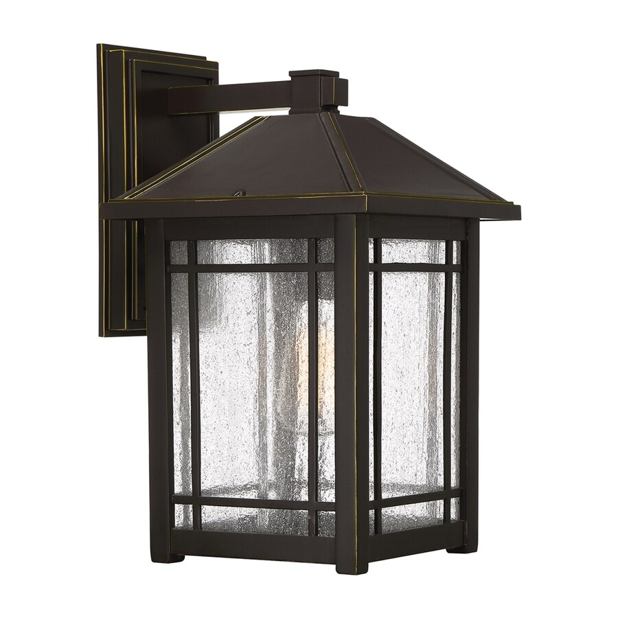 Quoizel Cedar Point 16.5-in H Palladian Bronze Medium Base (E26) Outdoor Wall Light