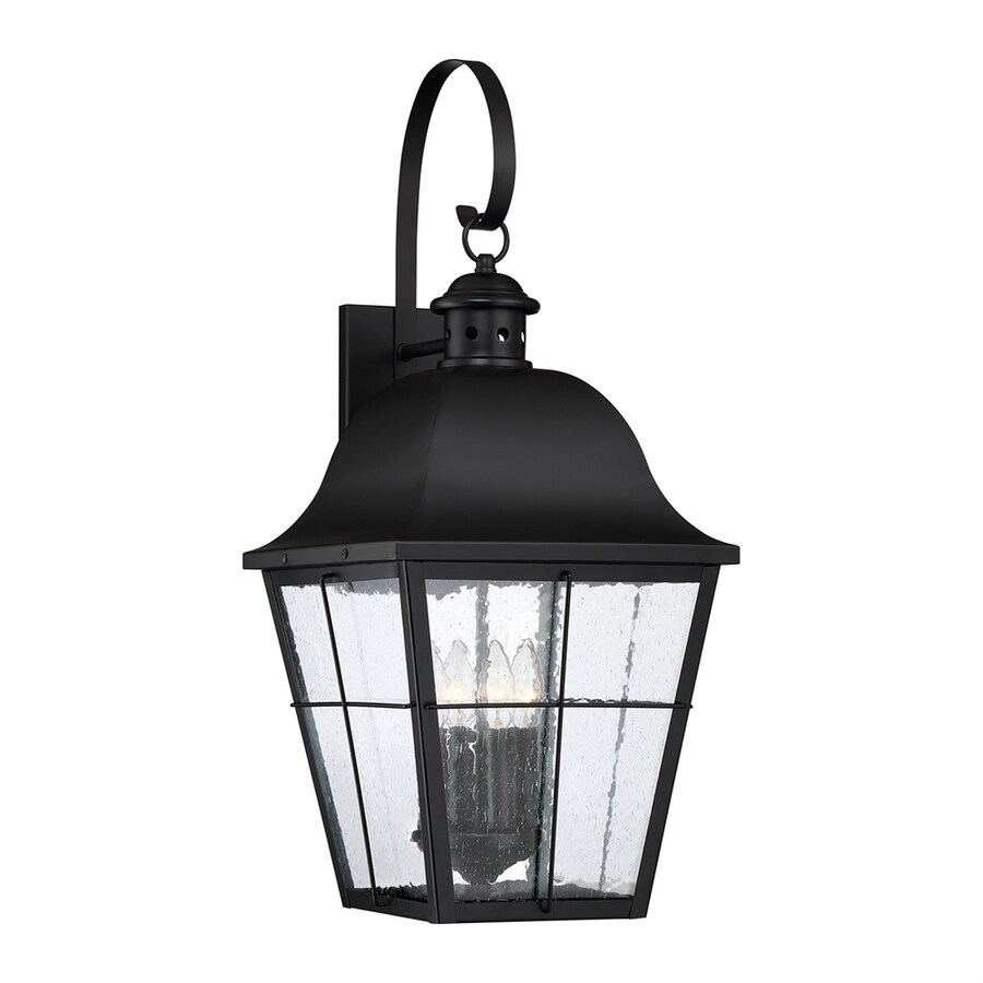 Quoizel Millhouse 27.25-in H Mystic Black Candelabra Base (E-12) Outdoor Wall Light