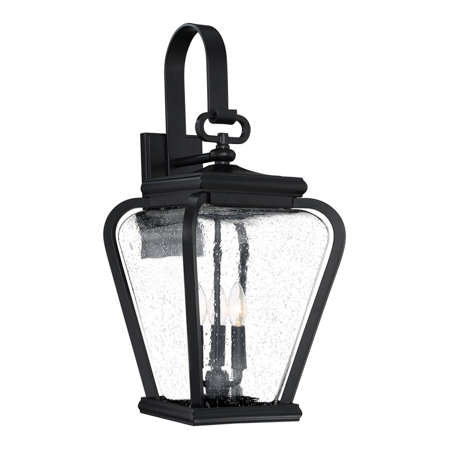 Quoizel Province 25-in H Mystic black Candelabra Base (E-12) Outdoor Wall Light