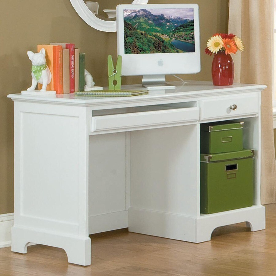 Homelegance Morelle Traditional White Computer Desk