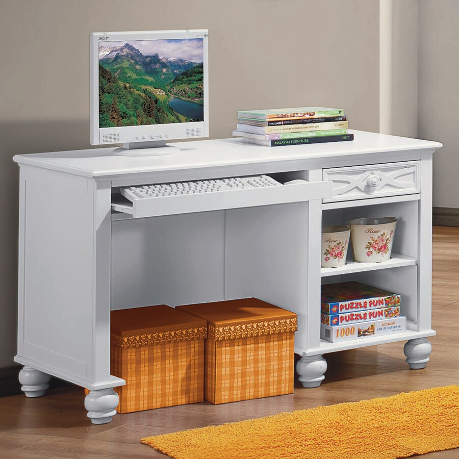 Homelegance Sanibel Traditional White Computer Desk