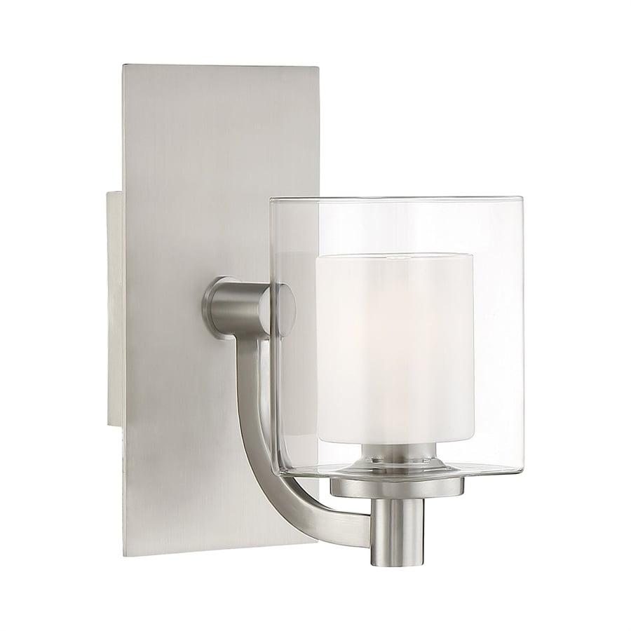 Quoizel Kolt 1-Light 9-in Brushed Nickel Cylinder LED Vanity Light