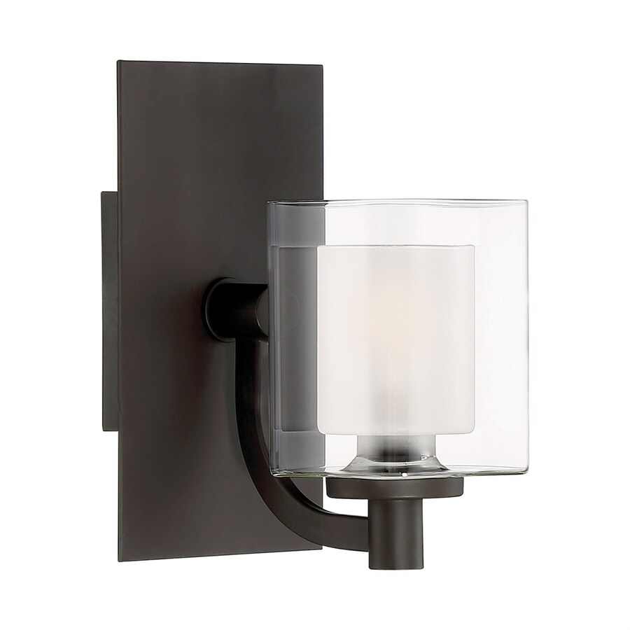 Quoizel Vanity Lights : Shop Quoizel Kolt 1-Light 9-in Western Bronze Cylinder LED Vanity Light at Lowes.com
