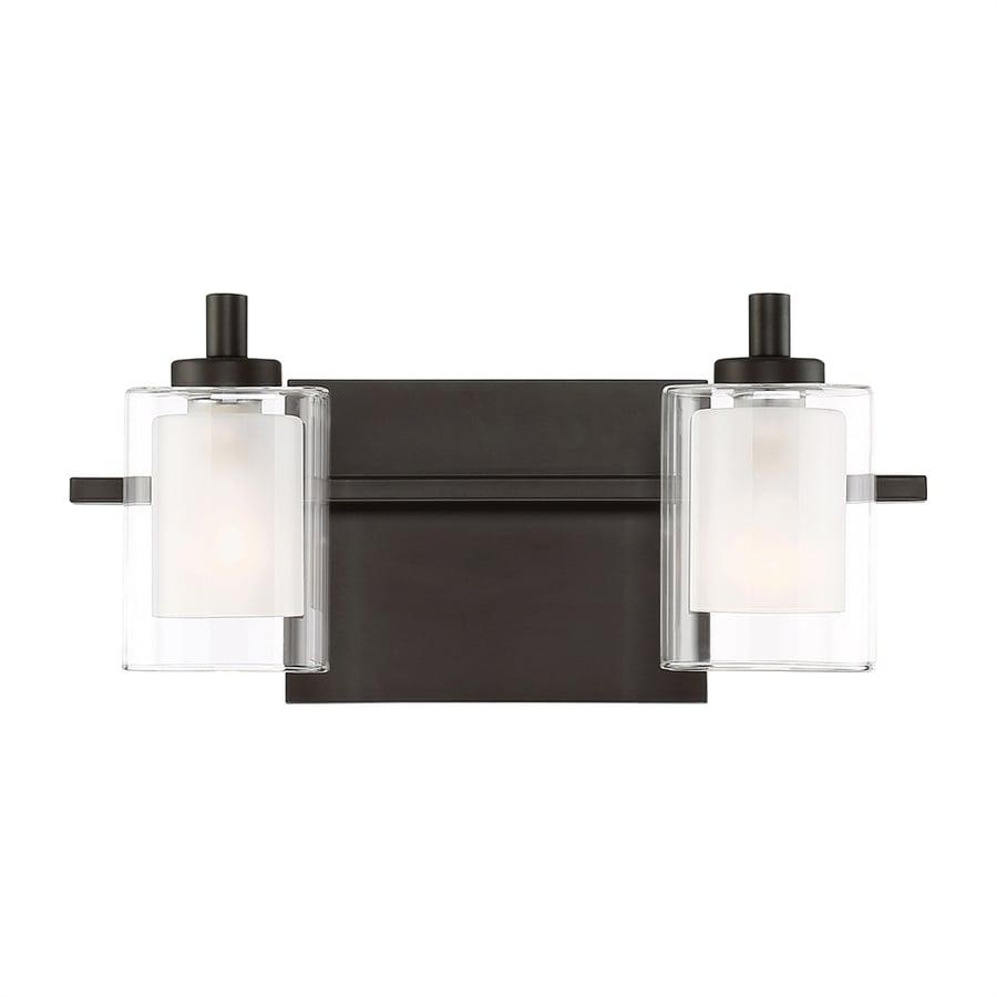 Quoizel Kolt 2-Light 6-in Brushed Nickel Cylinder LED Vanity Light