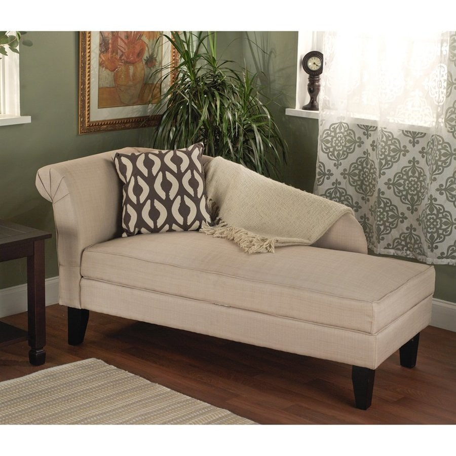 TMS Furniture Leena Casual Beige Cotton Chaise Lounge