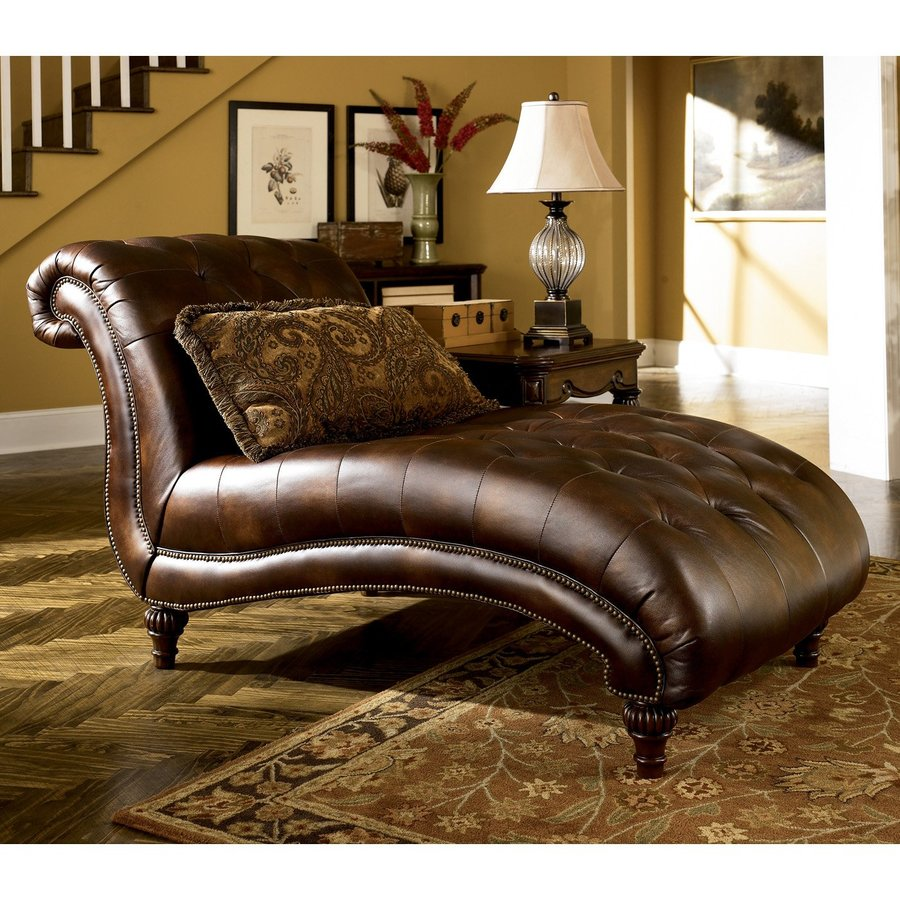 Signature Design by Ashley Claremore Casual Brown Chaise Lounges