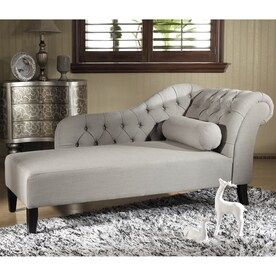 Baxton Studio Aphrodite Casual Gray Linen Chaise Lounges